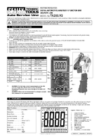 Instruction Manual for Sealey TA203 Automotive Digital Multimeter 15 Function Bar Graph/PC Link