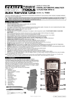 Instruction Manual for Sealey TA303 Digital Automotive Analyser 14 Function with IC