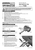 Instruction Manual for Sealey TC900 Bead Seating Tool