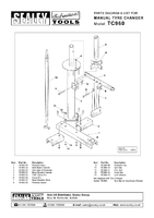 Parts List for Sealey TC960 Tyre Changer Manual Operation
