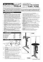 Instruction Manual for Sealey TC962 Tyre Changer Pneumatic/Manual Operation