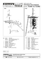 Parts List for Sealey TC962 Tyre Changer Pneumatic/Manual Operation