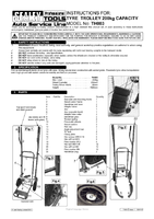Instruction Manual for Sealey Th003 Tyre Trolley 200kg Capacity