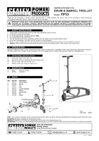 Instruction Manual for Sealey TP13 Drum & Barrel Trolley