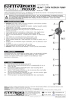 Instruction Manual for Sealey TP57 Rotary Pump Heavy-Duty for AdBlue