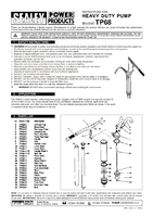 Instruction Manual for Sealey TP68 Heavy-Duty Lever Pump