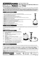 Instruction Manual for Sealey TP696 Vacuum Oil & Fluid Extractor Manual 5.5ltr