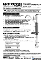 Instruction Manual for Sealey TP89 Self-Priming Piston Pump
