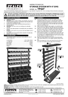 Instruction Manual for Sealey TPS47 Bin Storage System with 47 Bins