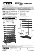 Instruction Manual for Sealey TPS94 Mobile Bin Storage System With 94 Bins