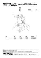Parts List for Sealey TSJ4 Bottle Jack 4tonne Telescopic
