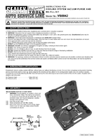 Instruction Manual for Sealey VS0042 Cooling System Vacuum Purge & Refill Kit