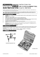 Instruction Manual for Sealey VS011A SAC Clutch Alignment Tool