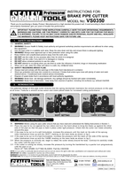 Instruction Manual for Sealey Vs0350 Brake Pipe Cutter
