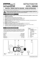Instruction Manual for Sealey VS0563 Digital Tyre Tread Depth Gauge - VOSA Approved