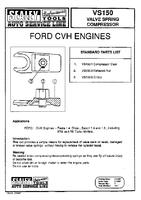 Ford CVH Sealey VS150 Valve Spring Compressor
