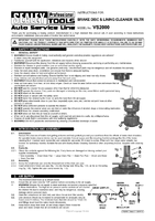 Instruction Manual for Sealey VS2000 Brake Disc & Lining Cleaner 15ltr