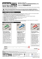 Instruction Manual for Sealey VS2000D Mercedes Engine & Transmission Dipstick Set 4pc