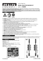 Instruction Manual for Sealey Vs2064 Diesel Injector Master Kit