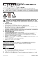 Instruction Manual for Sealey Vs2073 Diagnostic Socket Memory Safe - Eobd