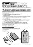 Instruction Manual for Sealey VS211 Fuel Injector Test Device 12V - Petrol