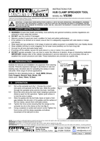 Instruction Manual for Sealey VS390 Hub Clamp Spreader Tool - Ball Joint/Strut