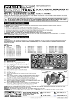 Instruction Manual for Sealey VS7002 Oil Seal Removal/Installation Kit