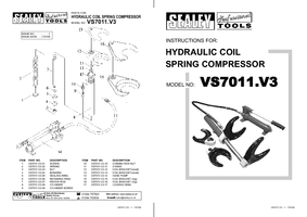 Instruction Manual for Sealey VS7011 Hydraulic Coil Spring Compressor