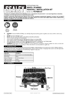 Instruction Manual for Sealey VS7020 Wheel Bearing Removal Tool Kit