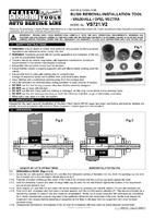 Instruction Manual for Sealey VS721 Bush Installation/Removal Tool Kit - Vauxhall/Opel Vectra - Rapid