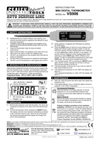 Instruction Manual for Sealey VS906 Mini Digital Thermometer