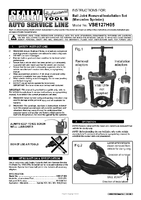 Instruction Manual for Sealey VSE127H05 Ball Joint Removal/Installation Set - Mercedes Sprinter