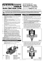 Instruction Manual for Sealey VSE4777 Bush Removal Tool - Renault Laguna