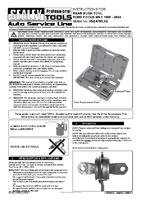 Instruction Manual for Sealey VSE4780 Rear Bush Tool - Ford Focus MK1 1998-2004
