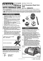 Instruction Manual for Sealey VSE4781 Front Suspension Bush Tool - VAG