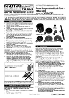 Instruction Manual for Sealey VSE4783 Front Control Arm Bush Removal/Installation Tool - BMW Mini