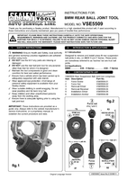 Instruction Manual for Sealey VSE5509 BMW Rear Ball Joint Tool