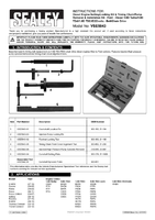Instruction Manual for Sealey VSE5843 Diesel Engine Timing Kit - Ford 1.8 TDDi/TDCi - Chain Drive