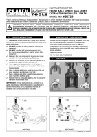 Instruction Manual for Sealey VSE725 Front Axle Upper Ball Joint Extractor/Installer - VW T4
