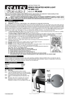 Instruction Manual for Sealey Wl483D Bench Mounting Work Light 48 Smd Led 230v