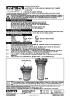 Instruction Manual for Sealey Wpf2 Inlet Filter For Surface Mounting Pumps 2ltr
