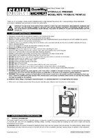 Instruction Manual for Sealey YK10B Hydraulic Press 10tonne Bench Type